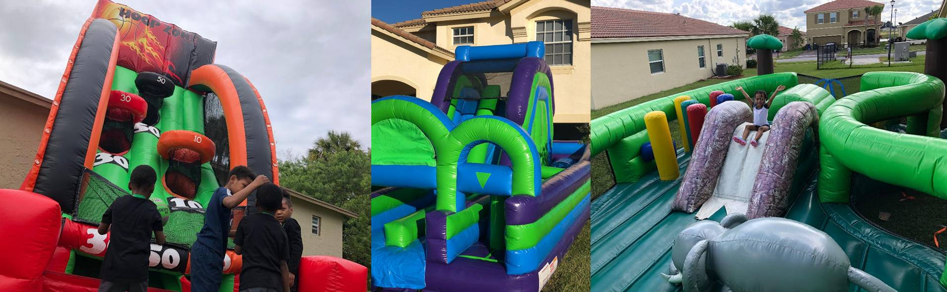 Inflatable jumper bounce house rental in Florida's Treasure Coast area