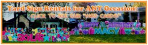Yard and lawn sign party rental in Florida's Treasure Coast